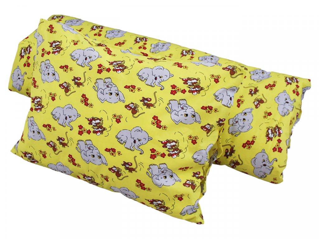 Dětské bavlněné povlečení - Slon žlutý