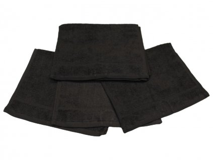 Dětský ručník pro mateřské školy 30x50 cm Černý