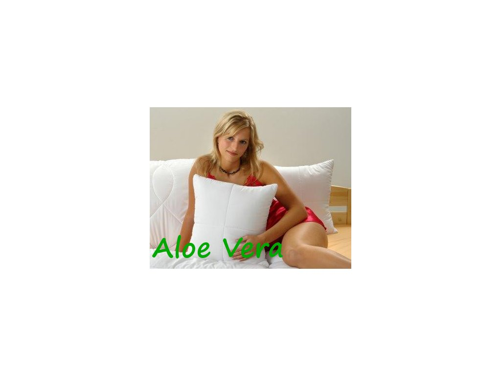Polštářek Aloe Vera 40x40cm se zipem