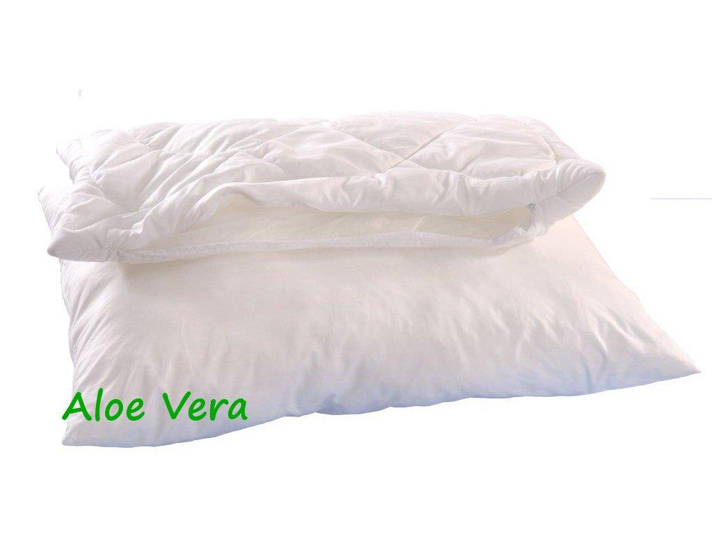 Polštář ALASKA Aloe Vera 70x90cm 900g 2x zip kuličky UNICO