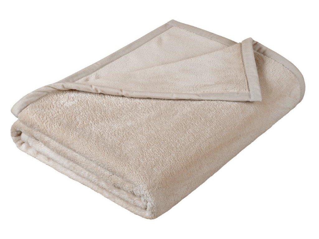 Dětská micro deka 100x150cm béžová
