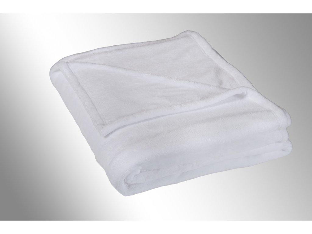 Micro deka jednolůžko 150x200cm bílá 300g/m2