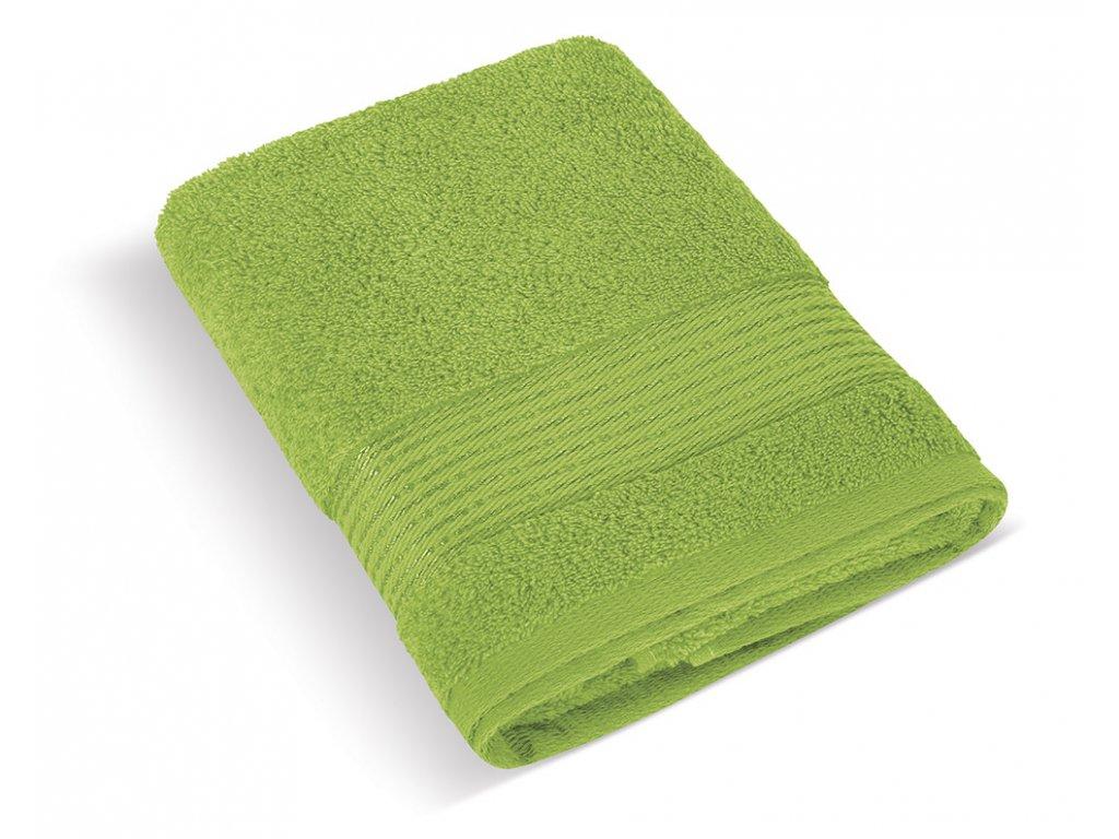 Froté ručník 50x100cm proužek 450g olivová