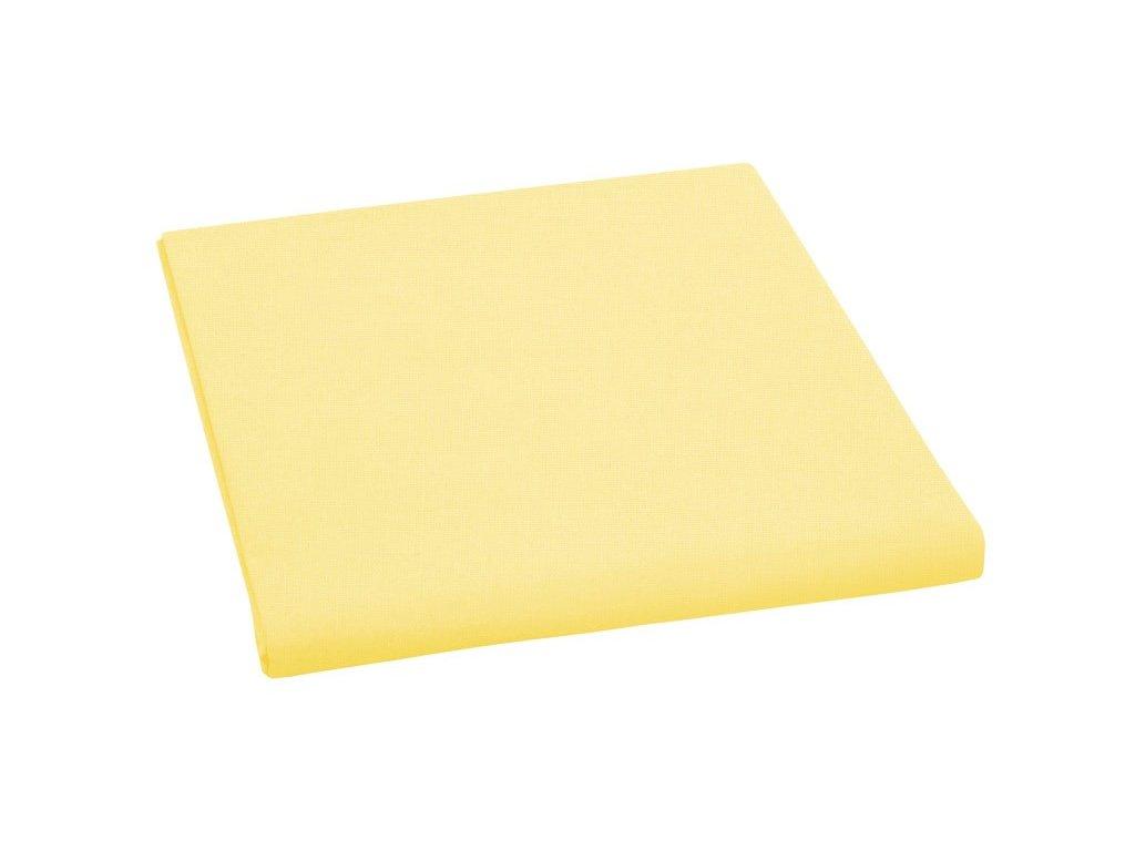 Prostěradlo bavlněné dvojlůžkové 240x230cm sytě žluté