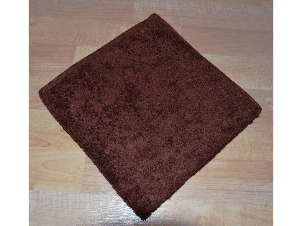 Froté ručník 50x100cm bez proužku 450g tmavě hnědý
