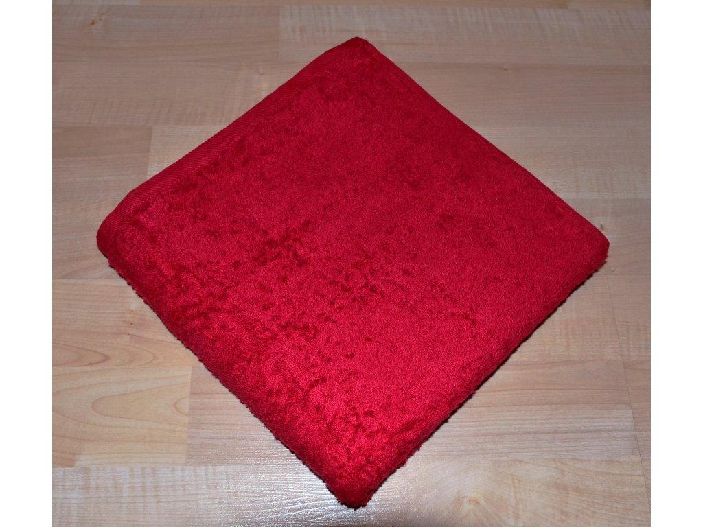 Froté osuška 70x140cm bez proužku 450g červená