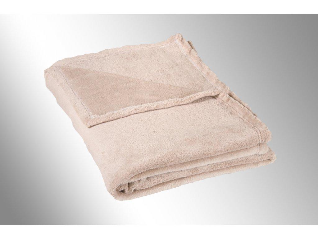 Micro deka jednolůžko 150x200cm béžová 300g/m2