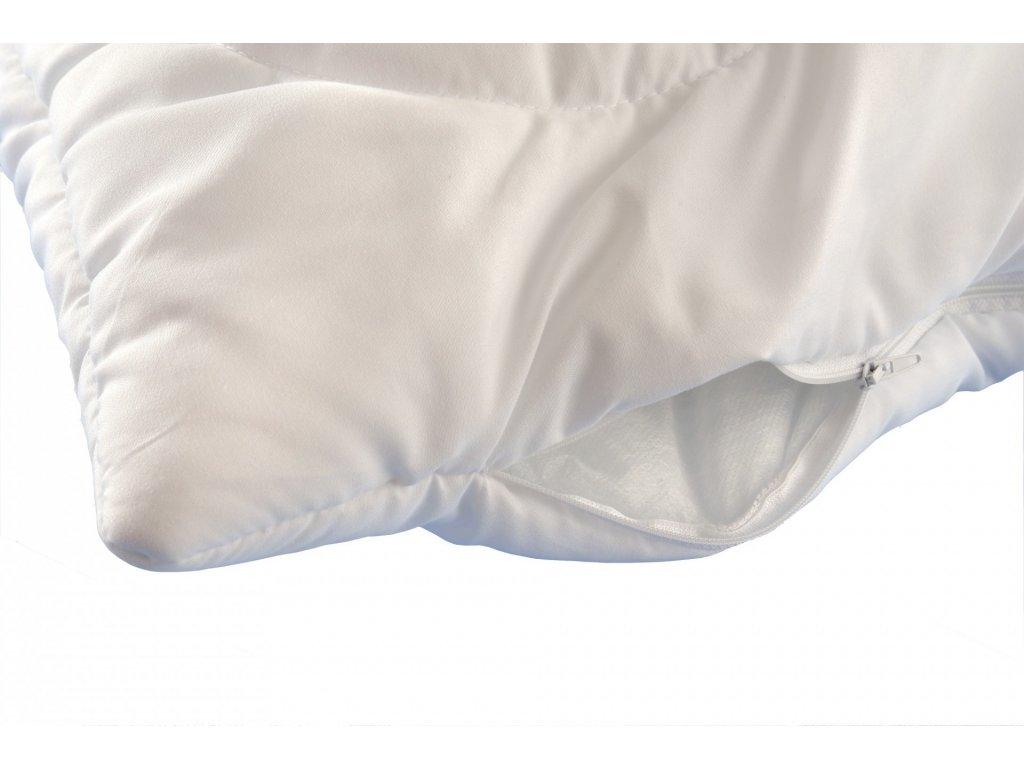 Polštář Luxus plus 45x60cm zip, Barva: Bílá