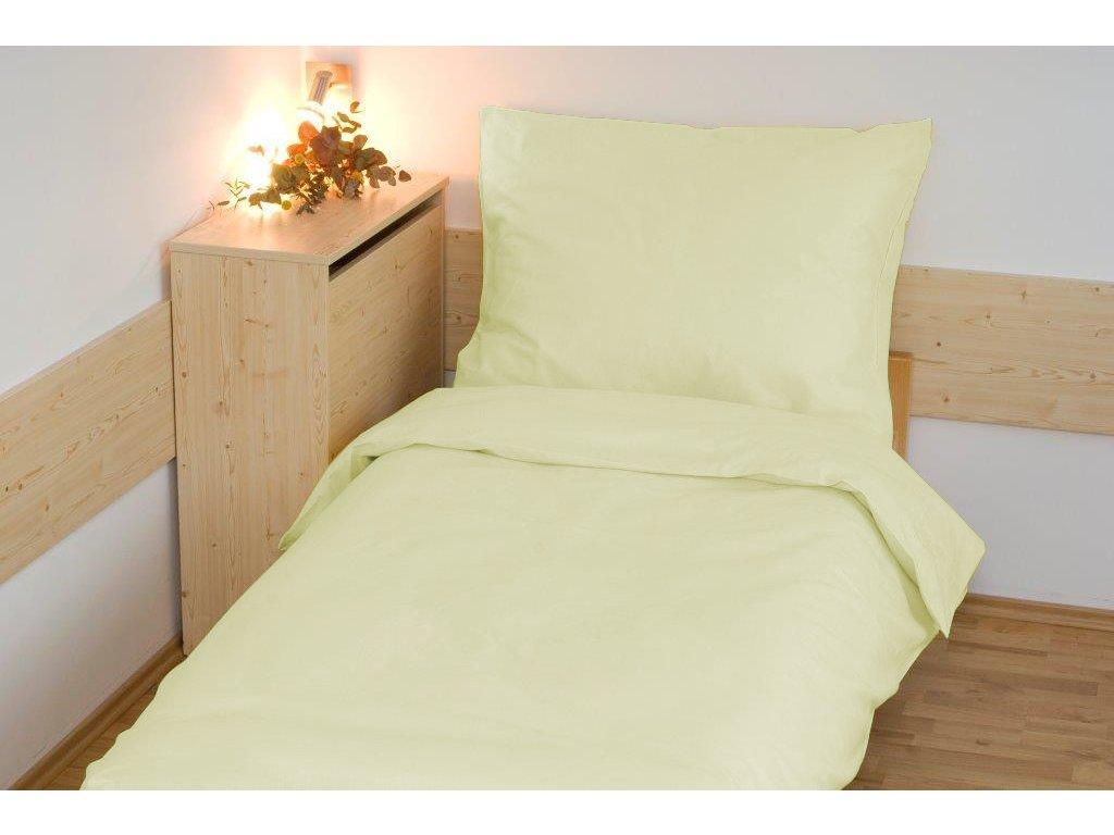Prodloužené povlečení bavlna UNI 140x220, 70x90cm Světle žlutá, Výběr zapínání: