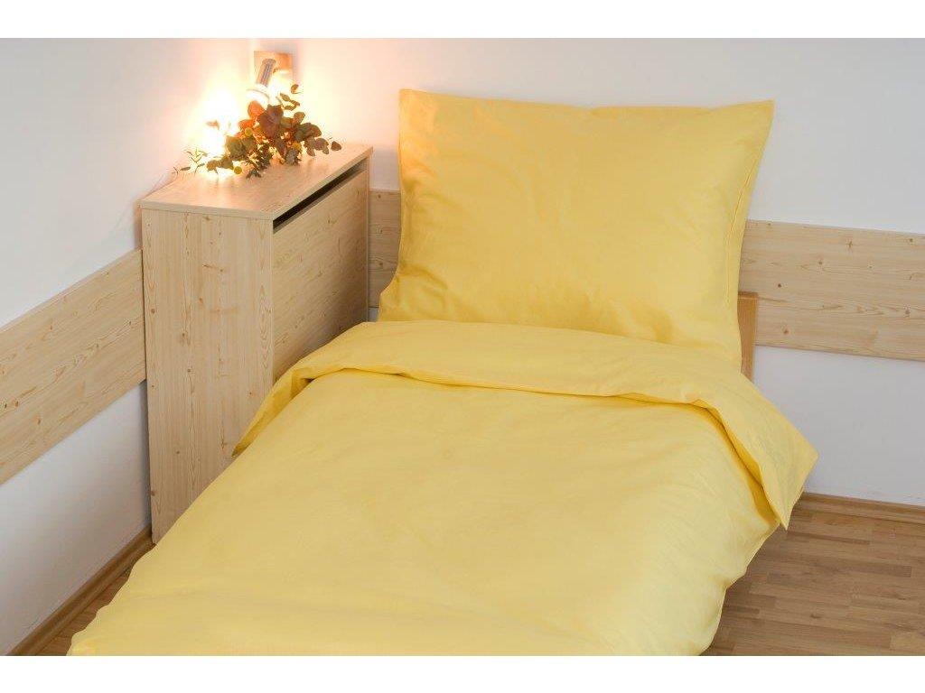 Povlečení bavlna UNI 140x200, 70x90cm Sytě žlutá, Výběr zapínání: