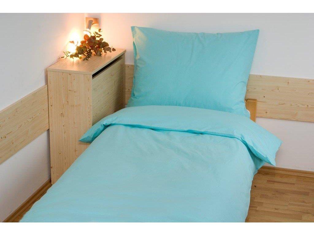 Povlečení bavlna UNI 140x200, 70x90cm zelené, Výběr zapínání: