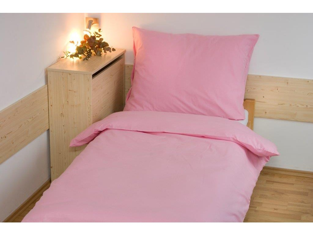 Prodloužené povlečení bavlna UNI 140x220, 70x90cm Růžová, Výběr zapínání: