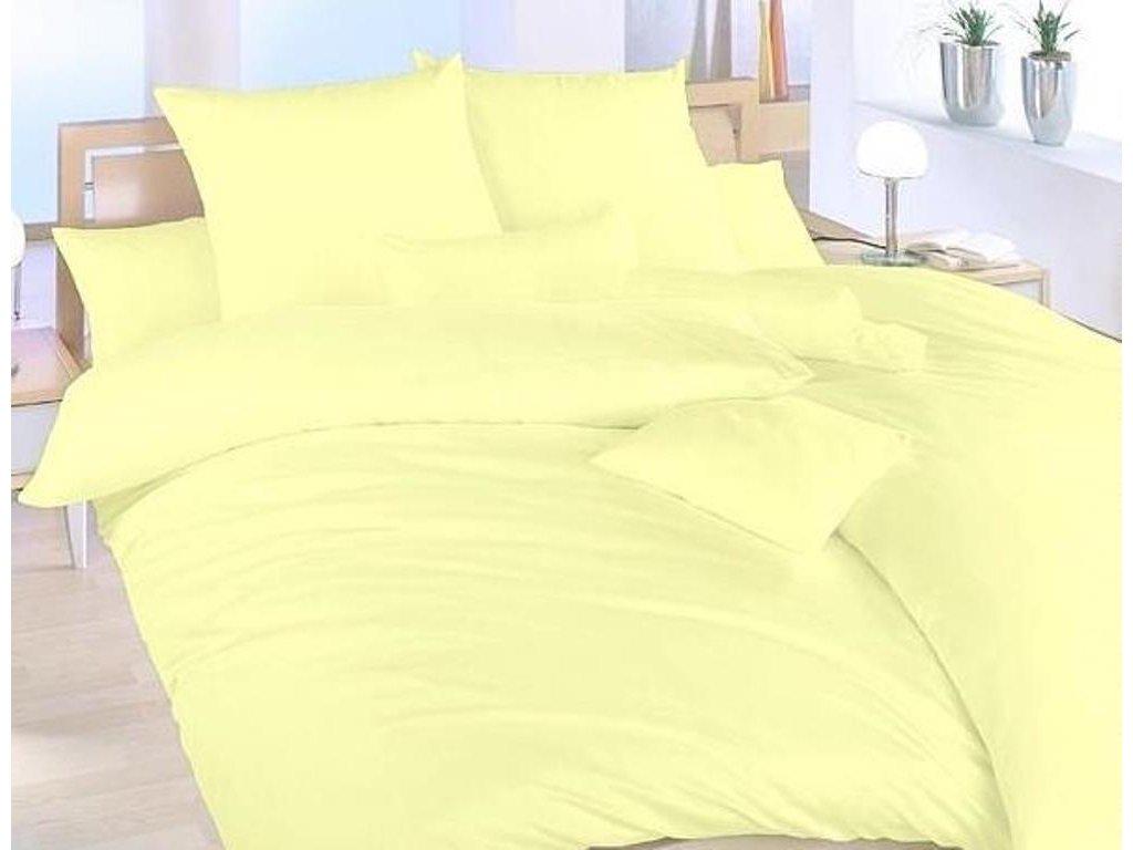Povlak krep UNI 70x90cm Žlutý, Výběr zapínání: zipový uzávěr