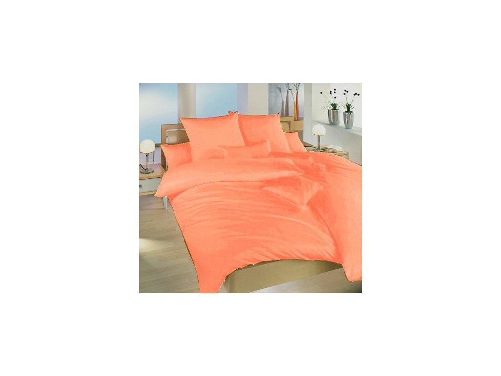 Povlečení krep UNI 140x200, 70x90cm Oranžové, Výběr zapínání: zipový uzávěr