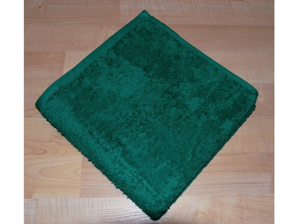 Froté osuška 70x140cm bez proužku 450g tmavě zelená