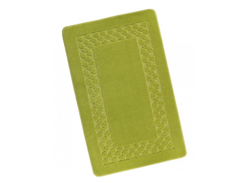Koupelnová předložka 60x100cm Rám zelený