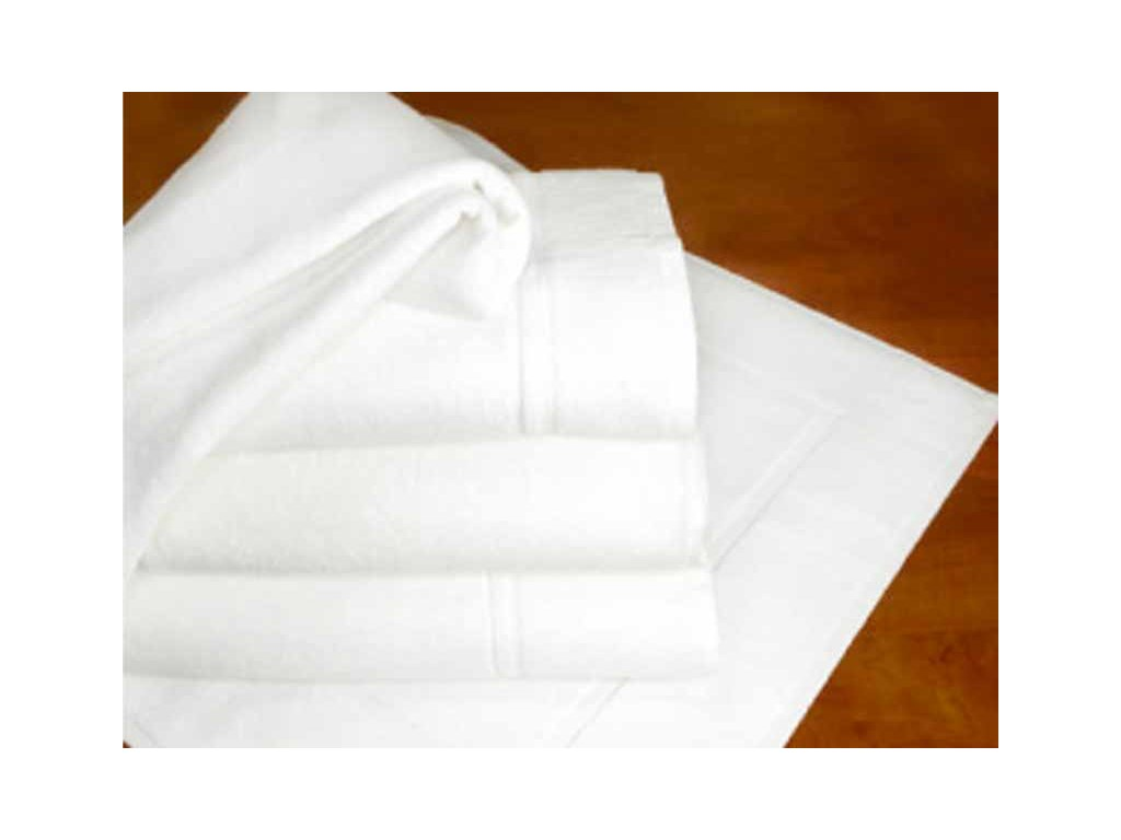 Hotelová předložka 50x70cm froté 700g bílá