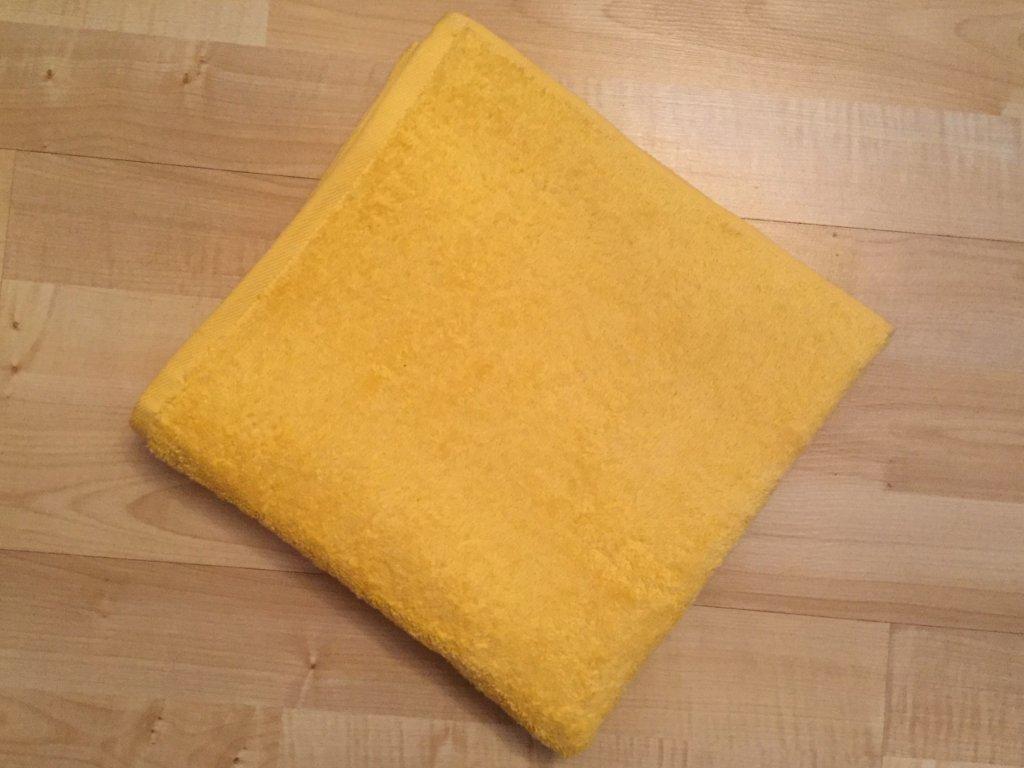 Froté osuška 70x140cm bez proužku 450g žlutá
