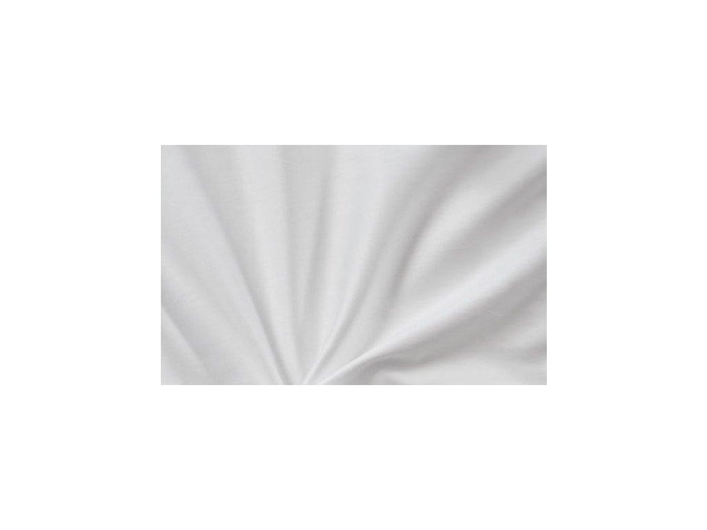 Bílé saténové prostěradlo 140x230 plachta bez gumy