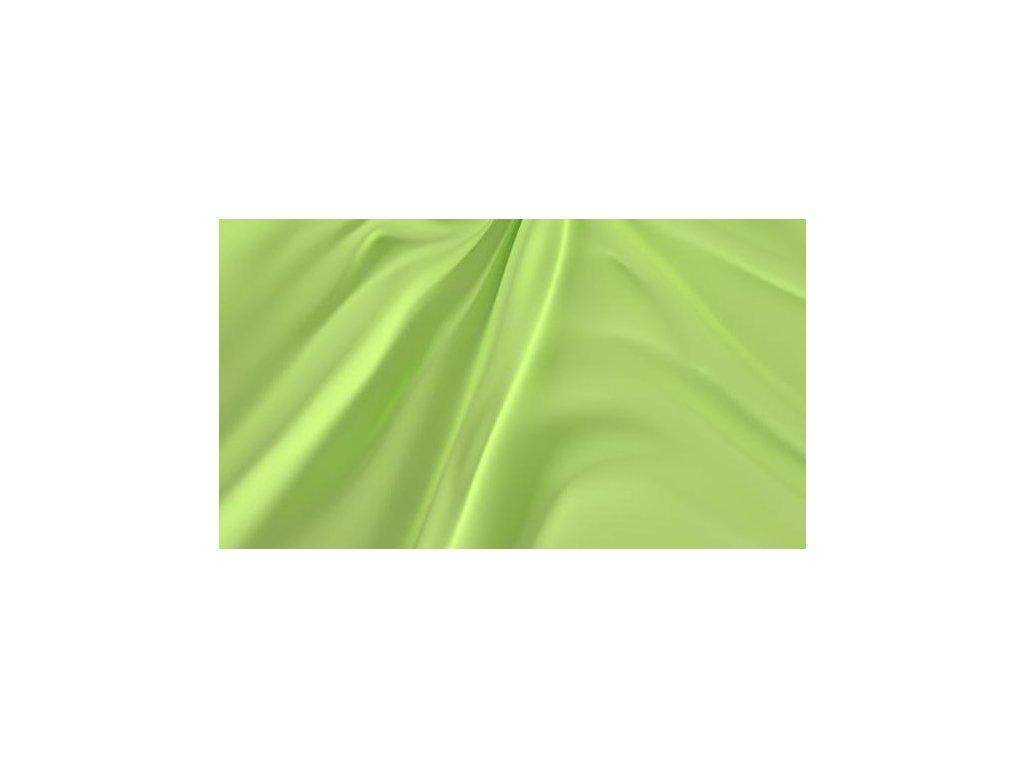 Světle zelené saténové prostěradlo 140x230 plachta bez gumy