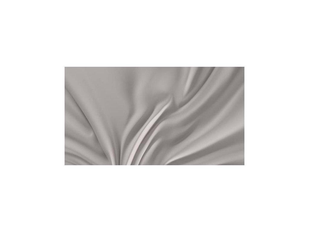 Světle šedé saténové prostěradlo 140x230 plachta bez gumy