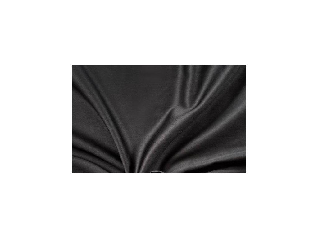 Černé saténové prostěradlo 140x230 plachta bez gumy