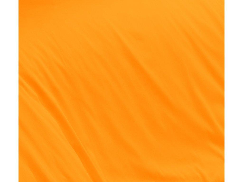 Oranžové saténové prostěradlo 240x230 plachta bez gumy