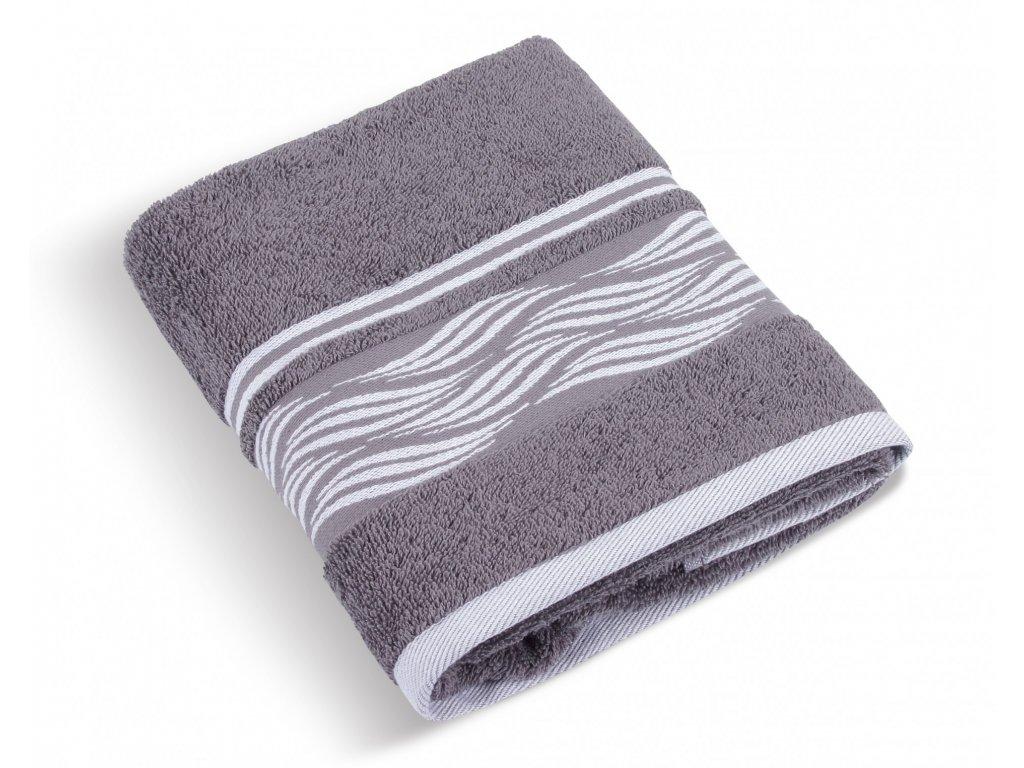 Froté ručník 50x100cm 480g vlnka šedá