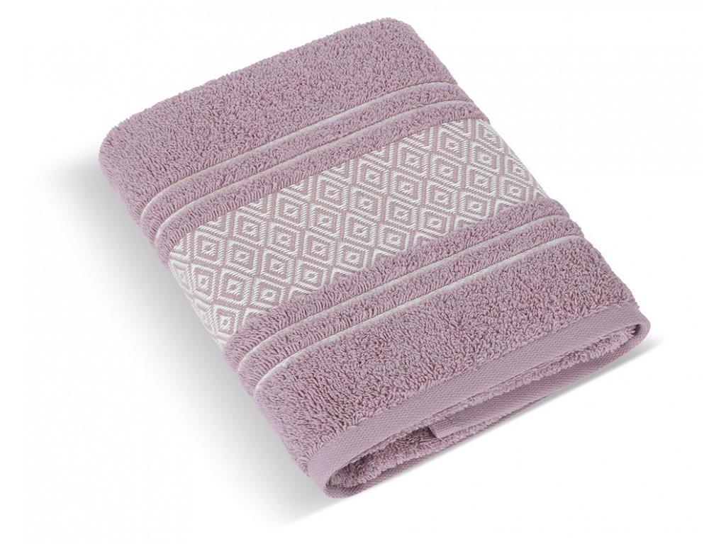 Froté ručník Mozaika 50x100cm 550g starorůžová