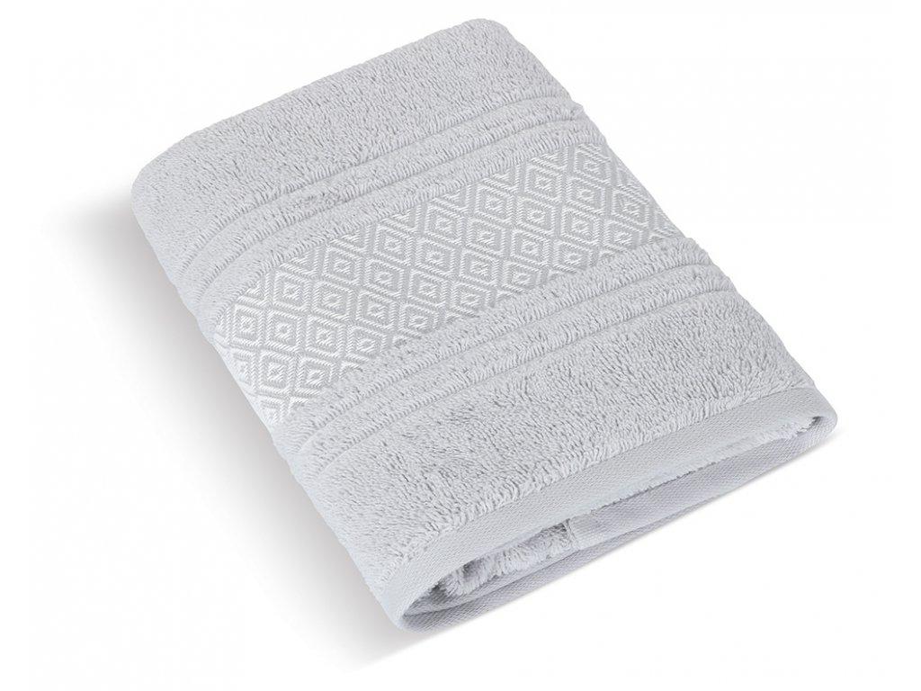 Froté osuška Mozaika 70x140cm 550g světle šedá