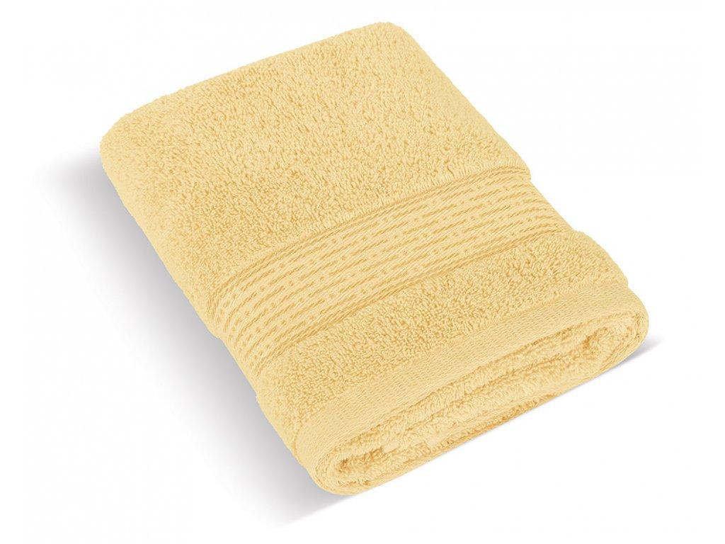 Froté ručník 50x100cm proužek 450g světle žlutá