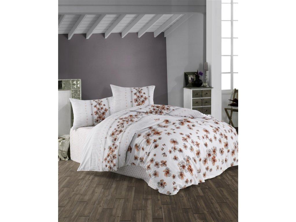Povlečení francouzské bavlna 220x220,70x90 Lorieta natur, Výběr zapínání:
