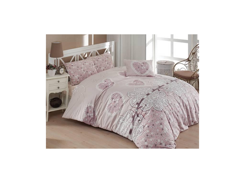 Povlečení francouzské bavlna 220x220,70x90 Dream love, Výběr zapínání: zipový uzávěr