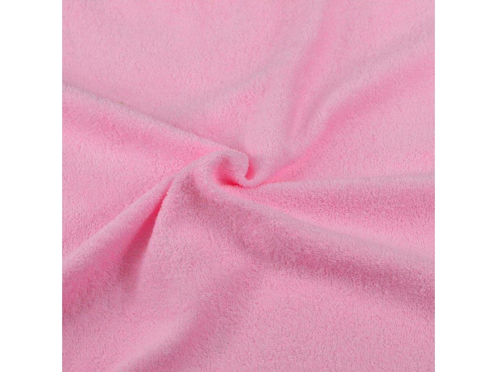 Froté prostěradlo růžové, Výběr rozměru