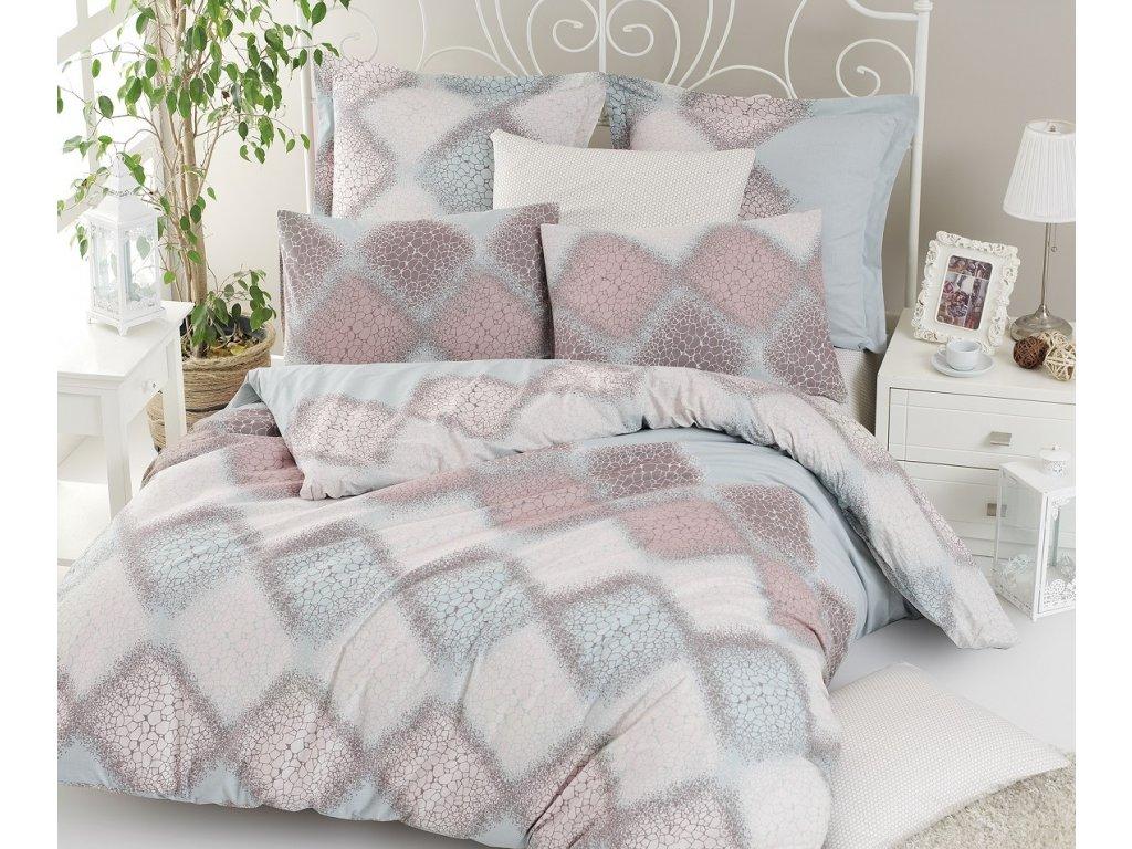 Povlečení francouzské bavlna 220x220,70x90 Mandy, Výběr zapínání: zipový uzávěr