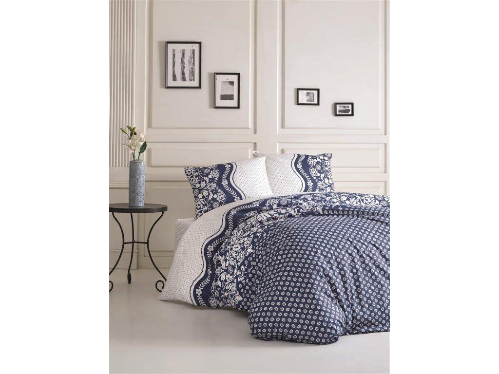 Povlečení bavlna 140x200, 70x90cm Dafne blue, Výběr zapínání: