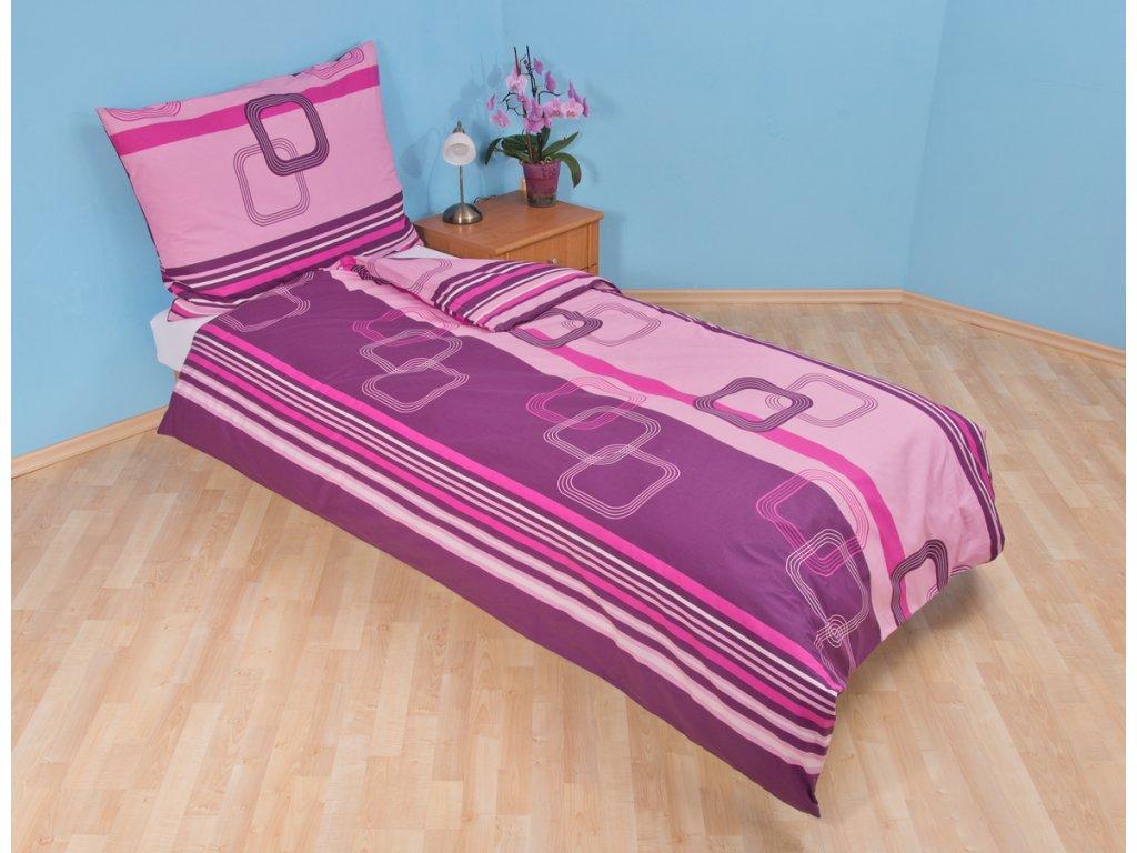 Bavlněný povlak na polštář Čtverce fialové skladem 8 ks, Výběr rozměru: 40x40