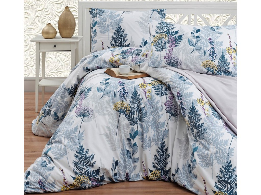 Povlečení bavlna 140x200, 70x90cm Wood grey , Výběr zapínání: