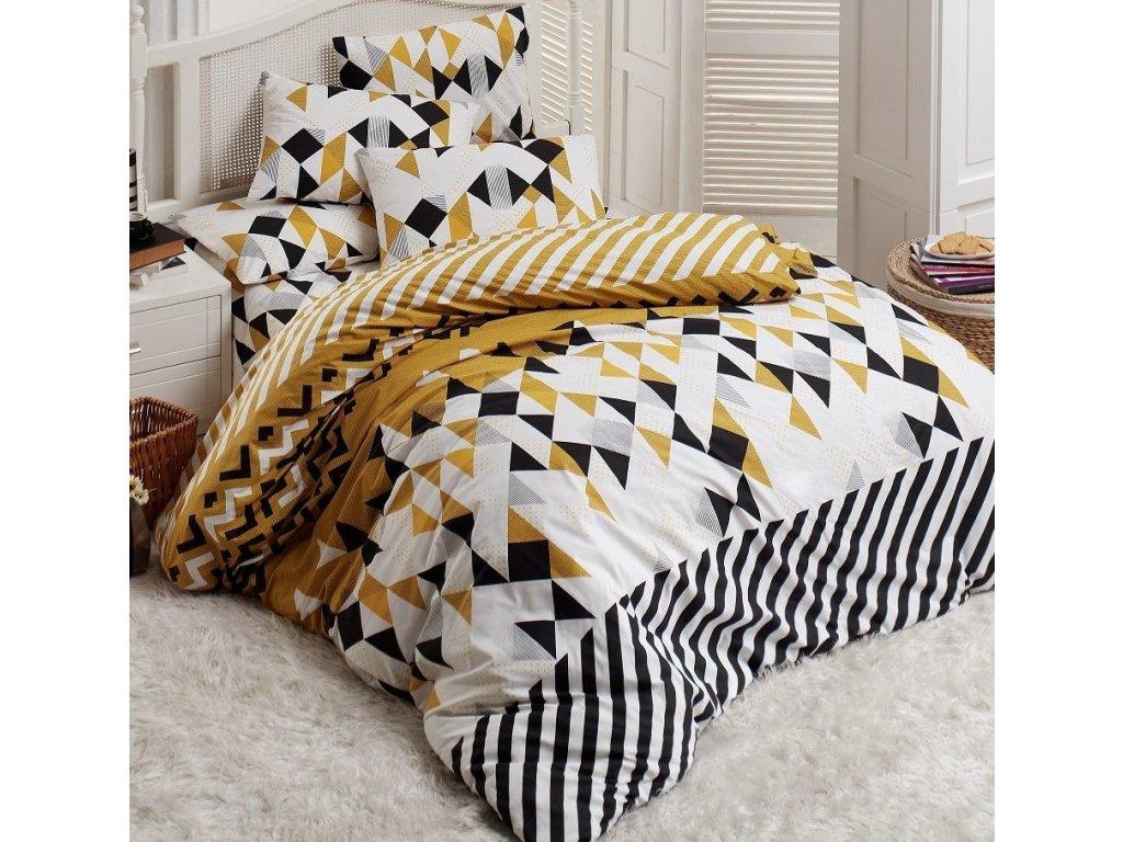 Povlečení francouzské bavlna 200x200,70x90 Mocca natur, Výběr zapínání: zipový uzávěr