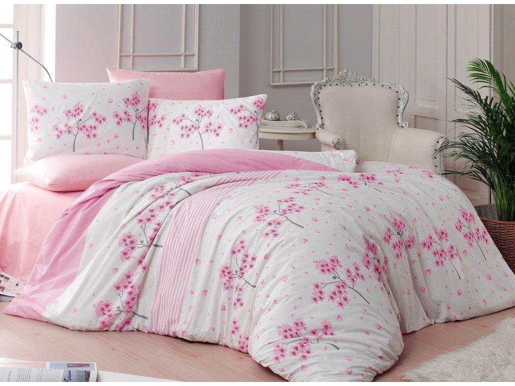 Povlečení francouzské bavlna 220x220,70x90 Viola pink, Výběr zapínání: zipový uzávěr