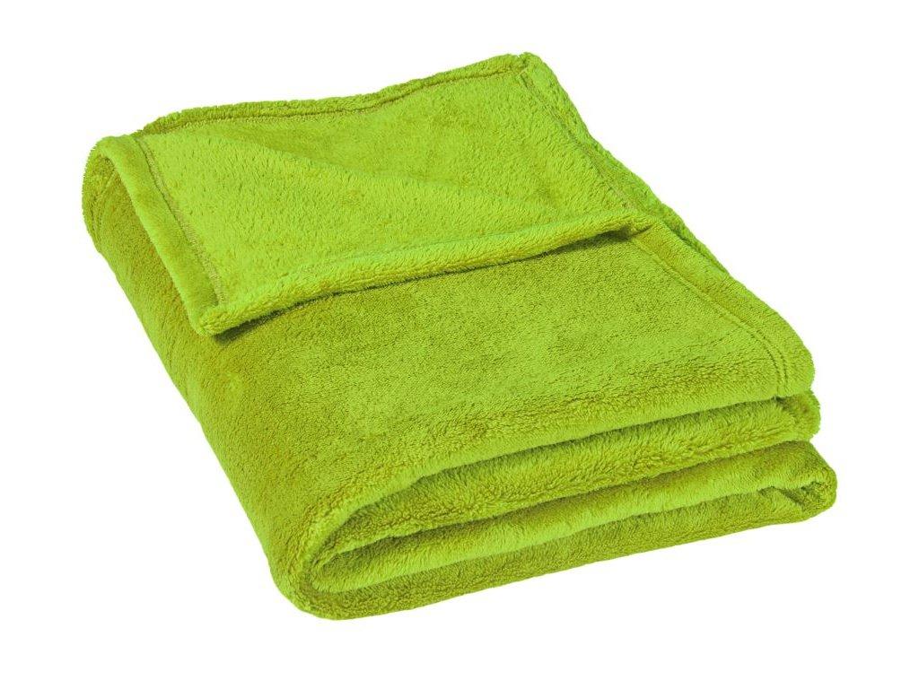 Dětská micro deka 75x100cm 300g/m2 světle zelená