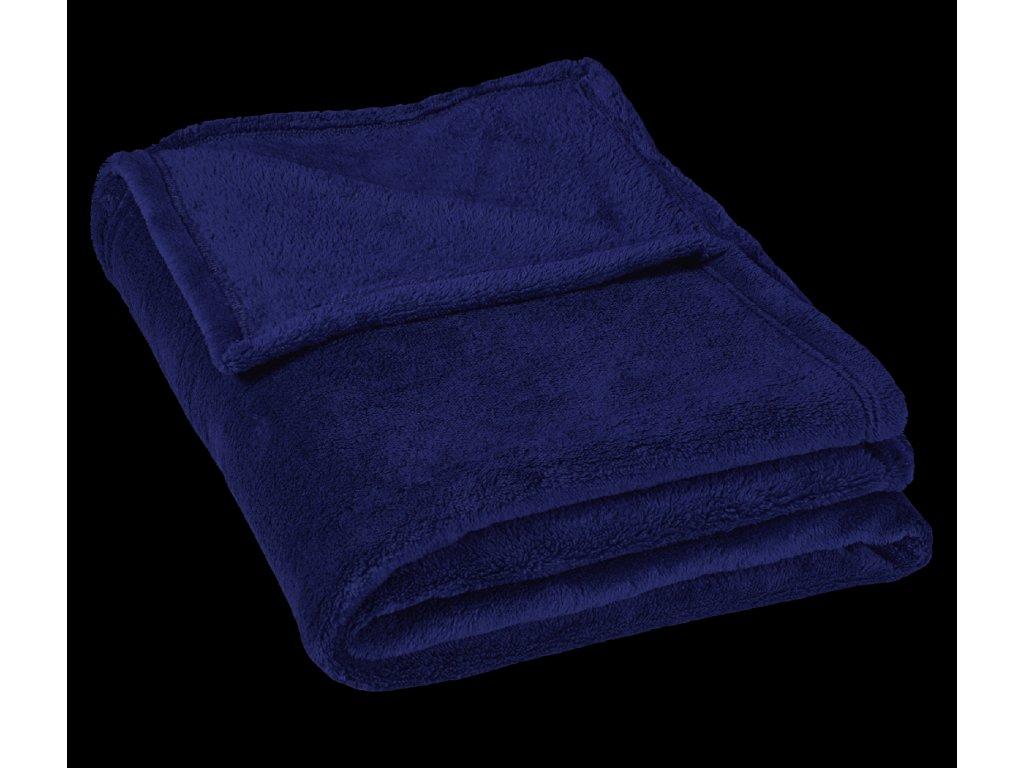 Dětská micro deka 75x100cm 300g/m2 tm.modrá