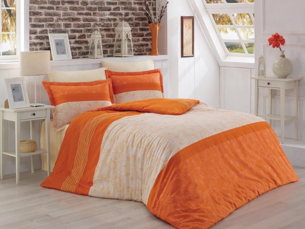 Saténový povlak na polštář Donato oranžové skladem 4 ks, Výběr rozměru: 40x40