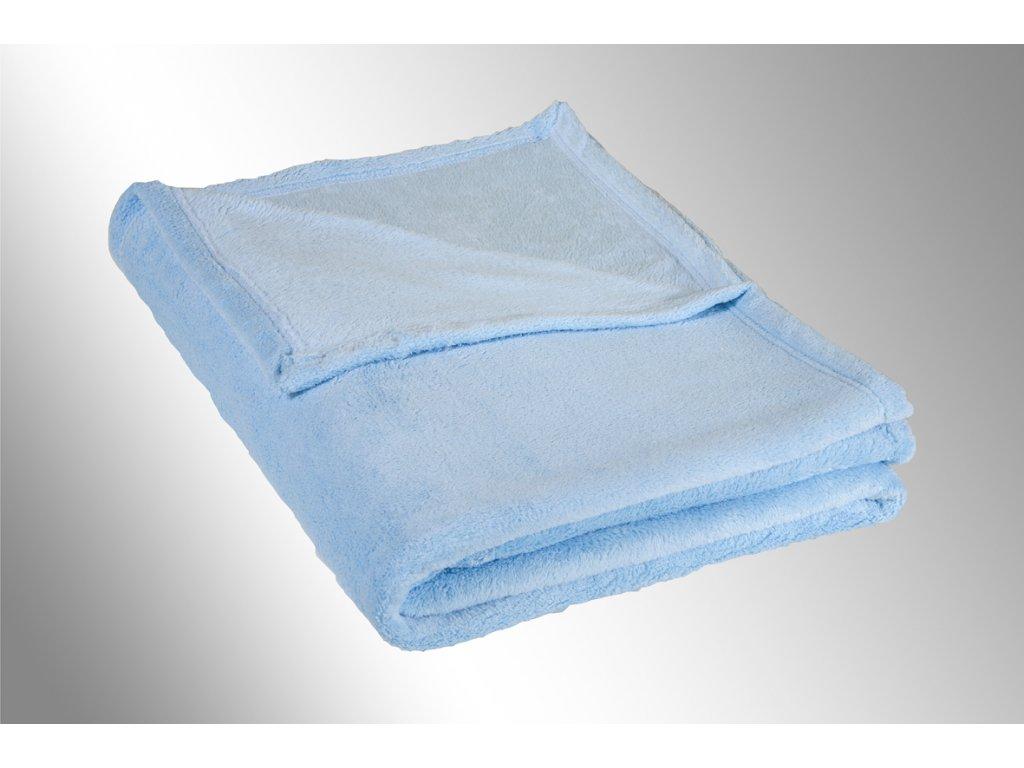 Dětská micro deka 75x100cm 300g/m2 sv.modrá