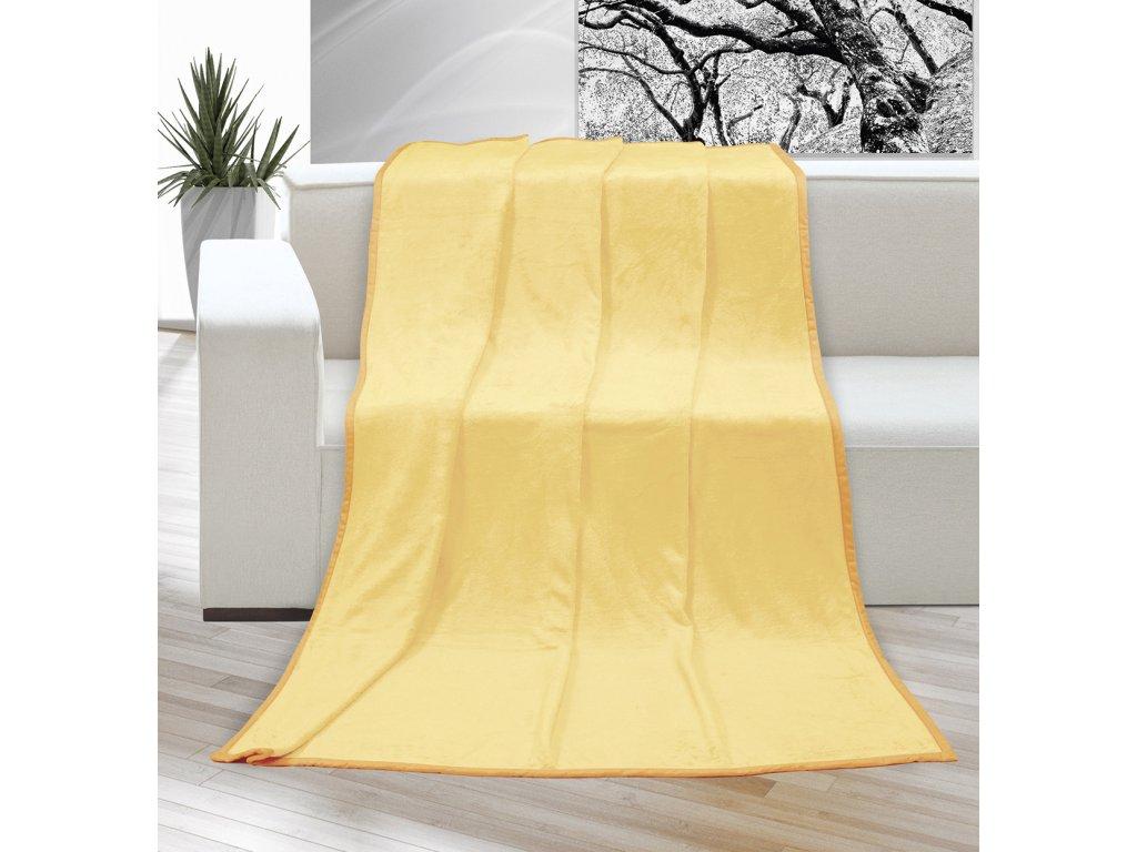 Deka micro dvojlůžko 200x230cm světle žlutá