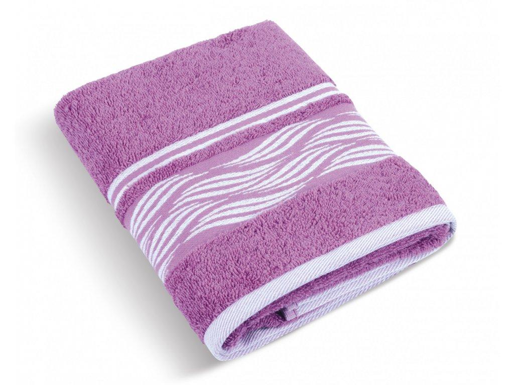 Froté ručník 50x100cm 480g vlnka lila
