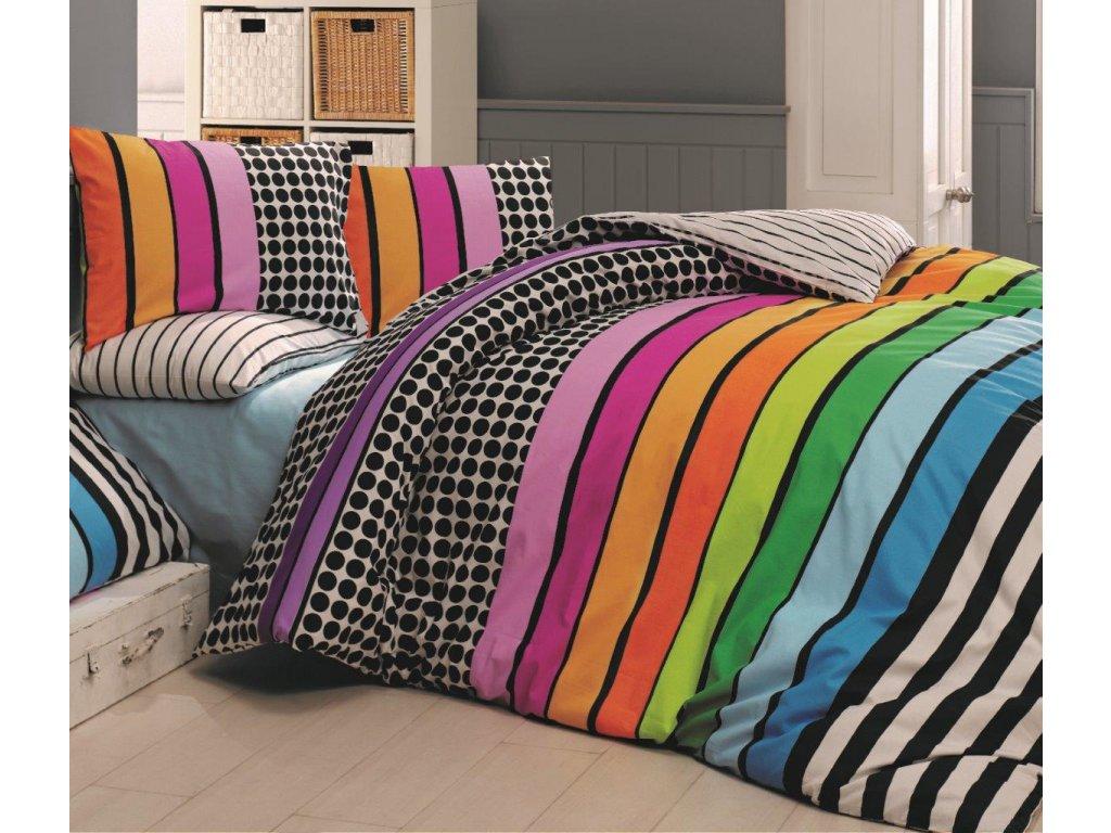 Povlečení francouzské bavlna 220x200,70x90 Stripes DUO, Výběr zapínání: zipový uzávěr