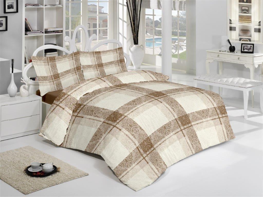 Povlečení francouzské bavlna 220x200,70x90 Fabio natur, Výběr zapínání: zipový uzávěr