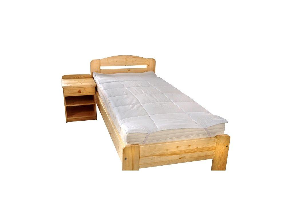 Matracový chránič Luxus plus prošitý s výplní dutého vlákna 100x200cm