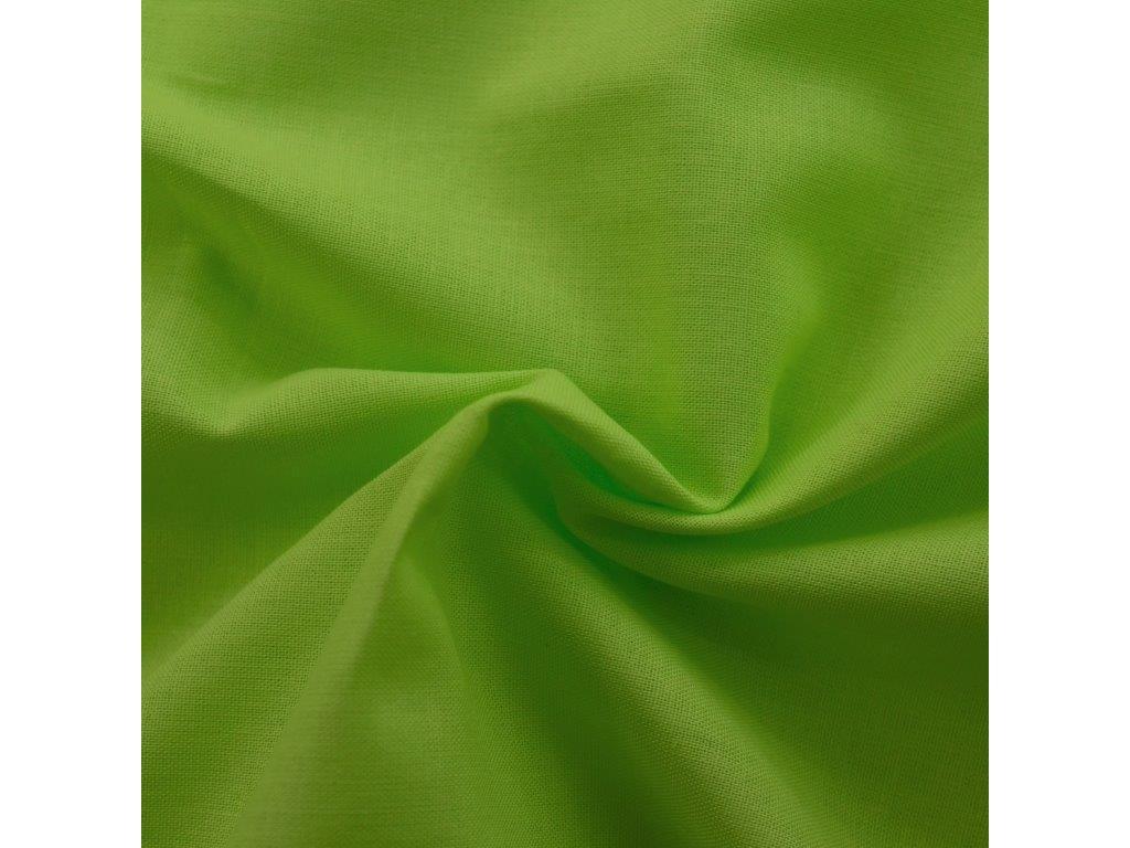 Povlečení bavlna UNI 140x200, 70x90cm limetka, Výběr zapínání: